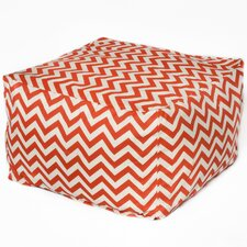 <strong>Chateau Designs</strong> Chevron Bean Bag Ottoman