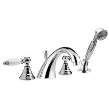 <strong>Remer by Nameek's</strong> Double Handle Deck Mounted Tub Filler Trim with Hand Shower