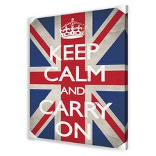 Keep Calm and Carry On Textual Art on Canvas