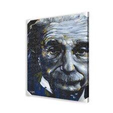 Einstein It's All Relative Memorabilia on Canvas