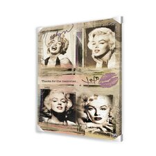 Marilyn Monroe Panels Memorabilia on Canvas