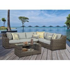 <strong>South Sea Rattan</strong> Naples Sectional with Cushions