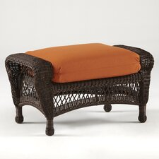 <strong>South Sea Rattan</strong> Montego Bay Ottoman with Cushion