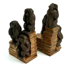 <strong>Bey-Berk</strong> Monkey Book Ends (Set of 2)