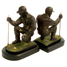 <strong>Bey-Berk</strong> Golfer Book Ends (Set of 2)