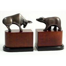 <strong>Bey-Berk</strong> Wall Street Book Ends (Set of 2)
