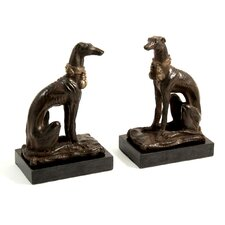 Whippet Book Ends (Set of 2)