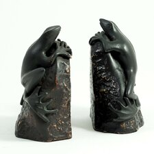 <strong>Bey-Berk</strong> Frog Book Ends (Set of 2)