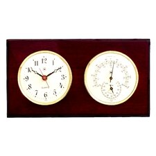 Wall Clock with Thermometer and Hygrometer