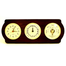 Time Tide Wall Clock with Barometer and Thermometer
