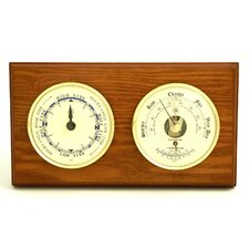 Tide Wall Clock with Barometer and Thermometer