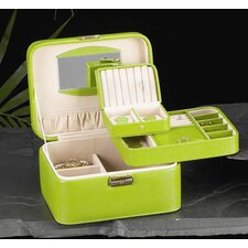 <strong>Bey-Berk</strong> Jewelry / Watch Case in Lime Leather