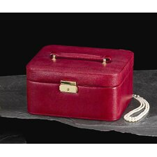 <strong>Bey-Berk</strong> Jewelry / Watch Case in Red Leather