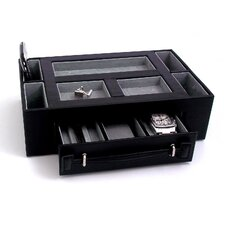 Valet Box with Pen and Watch Drawer