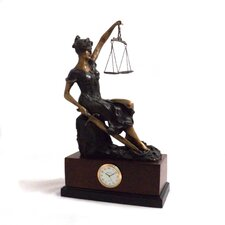 Seated Lady Justice Clock