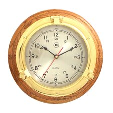 "9.5"" Porthole Wall Clock"