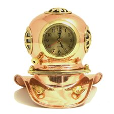 Copper and Brass Divers Helmet Clock