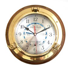 "9.5"" Porthole Time and Tide Wall Clock"