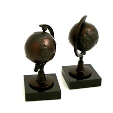<strong>Bey-Berk</strong> Globe Book Ends (Set of 2)