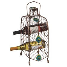 Peacock 5  Bottle Wine Rack