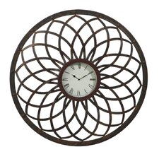 "Rusted 32"" Wall Clock"