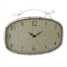 Vintage Brocade Wall Clock