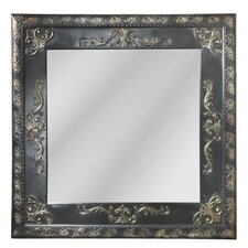 Distressed Square Mirror