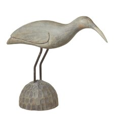 Hand Carved Shore Bird Statue