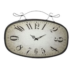 Distressed Scroll Wall Clock