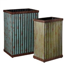 2 Piece Tall Planter Set