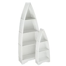 2 Piece Wood Boat Shelve Set