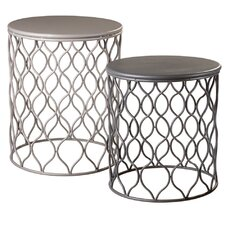 2 Piece Geo Wave Nesting Table Set
