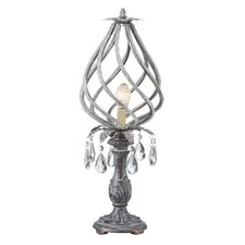 "Twisted and Beaded Framed 21"" Table Lamp"