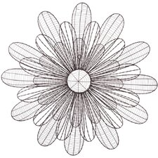 <strong>CBK</strong> Wire Sunflower Wall Décor