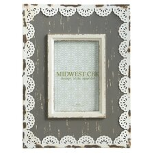 Metal Lace Trim Picture Frame (Set of 2)