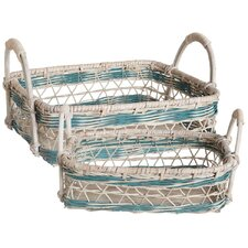 Open Weave Nesting Tray (Set of 2)
