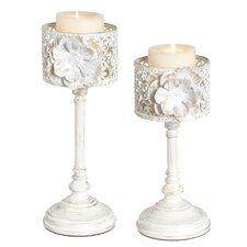 Rose Candlestick (Set of 2)