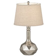 Textured Mercury Glass Table Lamp