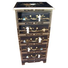 Mother of Pearl 5 Drawer Tall Chest
