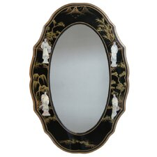 <strong>Grand International Decor</strong> Mother of Pearl Oval Mirror