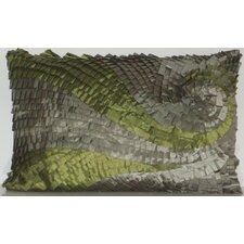 <strong>Edie Inc.</strong> Ombre Pleated Swirl Decorative Pillow