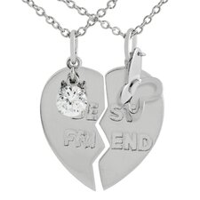 Sterling Silver 'Best Friend' Necklace