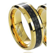 <strong>Tressa Collection</strong> Daxx Men's Tungsten Carbon Fiber Inlay Band