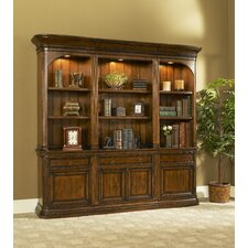 Winsome Bookcase Set with Drawer and Door Storage