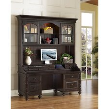 <strong>iQuest Furniture</strong> Barton Park Credenza Desk with Hutch