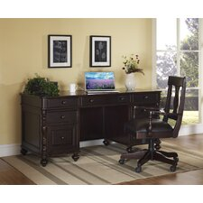 <strong>iQuest Furniture</strong> Barton Park Executive Desk with Keyboard Pullout