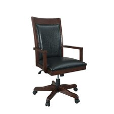 Companion Mid-Back Leather Office Chair with Arms