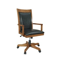<strong>iQuest Furniture</strong> Companion Mid-Back Leather Office Chair with Arms