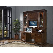 Madison Credenza Desk with Hutch