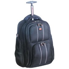 "Biztech 17"" Innovative Wheeled Laptop/Tablet Rolling Backpack"